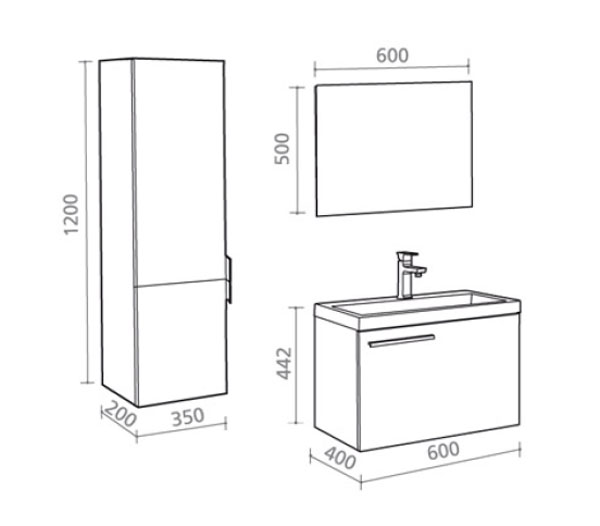badm bel g ste wc lisboa waschbecken waschtisch handwaschbecken wenge creme 60 ebay. Black Bedroom Furniture Sets. Home Design Ideas