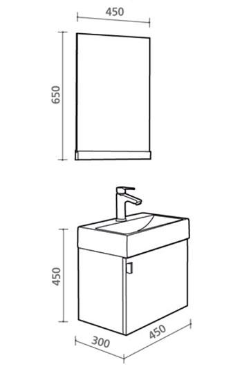 details zu badm bel g ste wc waschbecken waschtisch handwaschbecke n. Black Bedroom Furniture Sets. Home Design Ideas
